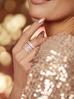 Pierścionek złoty z przezroczystymi kryształkami PRG0175 rozmiar 22