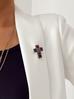 Broszka kolorowy krzyż BRU0004