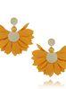 Kolczyki satynowe kwiaty  Blossom  żółte KBL0312