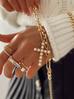 Pierścionek złoty z przezroczystymi kryształkami PRG0131 rozmiar 12
