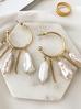 Kolczyki złote okrągłe  z perłami KPE0024