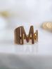 Pierścionek złoty ze stali szlachetnej z literką M PSA0048