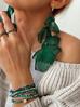 Bransoletka z zielonymi kryształkami BTW0246