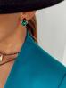Naszyjnik zielony żuk z kryształkami dłuższy NMI0040