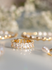 Pierścionek złoty z kryształkami PRG0144 rozmiar 25
