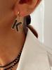 Kolczyki złote z kryształkami literka K KRG0581