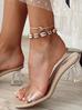 Bransoletka na nogę ze złotymi i naturalnymi muszlami Ocean Vibes BNOV0006