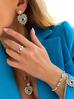 Kolczyki niebieskie serca z okiem KRG0626