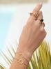 Pierścionek złoty ze stali szlachetnej z kulkami PSA0078 rozmiar 15