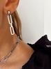 Kolczyki srebrne łańcuchy ze stali szlachetnej KSA0002