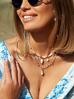 Naszyjnik z perłami i muszlami NPA0189