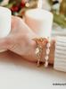 Bransoletka złota z perełkami BPE0010