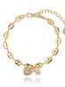 Bransoletka złota z serduszkami BRG0167