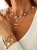 Naszyjnik z perłami i dyskami NPE0041