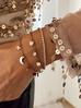 Bransoletka złota z kółeczkami i kryształkami ze stali szlachetnej BSA0046