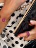 Pierścionek złoty z czarnymi i rubinowymi kryształkami PRG0043 rozmiar 14