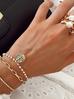 Pierścionek złoty z perłami PPE0028 Rozmiar 18