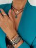 Bransoletka niebieska z hematytem - cyrkonia BTW0118