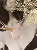 Naszyjnik długi z perłami i wisiorkiem NPE0007