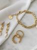 Kolczyki złote z perłami i łańcuszkiem KPE0022