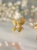 Pierścionek złoty kwiat z perełkami PPE0017