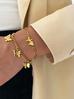 Bransoletka złota ze stali szlachetnej z motylkami BSA0109