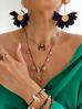 Naszyjnik z kryształem górskim, muszlami i perłami  NPA0117