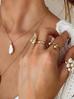 Naszyjnik złoty podwójny z perłą NPE0031