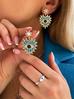Pierścionek elastyczny z perłami i okiem  PPA0009