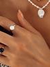 Pierścionek srebrny ze stali szlachetnej z czarną kulką PSA0066 Rozmiar 20