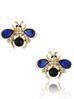 Kolczyki drobne owady granatowe KMI0150
