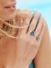 Pierścionek niebieski owad z cyrkoniami i kryształkiem PMI0075