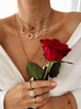 Naszyjnik z łańcuchem LOVE NRG0188