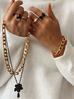 Pierścionek złoty ze stali szlachetnej PSA0034 Rozmiar 12