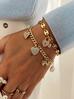 Bransoletka złota z charmsami BRG0173