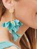 Kolczyki satynowe kwiaty - patynowy Blossom KBL0204