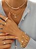 Naszyjnik złoty z perełek NPE0039