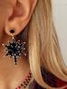 Kolczyki z czarną gwiazdą Black Stars KU0010