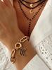 Bransoletka złoty łańcuch z zawieszką litera K BRG0141