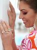 Pierścionek złoty z transparentnymi kryształami PRG0167 rozmiar15