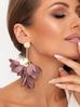Kolczyki satynowe kwiaty malaga KBL0518