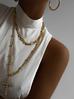 Naszyjnik złoty łańcuch  z krzyżem NRG0158