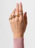 Pierścionek złoty z kolorowymi cyrkoniami PCO0015 rozmiar 14