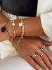 Bransoletka złoty łańcuch  z perą BRG0117