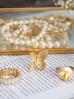 Pierścionek złoty z kryształkami PRG0097 rozmiar 16