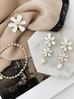 Kolczyki białe kwiaty KLI0019