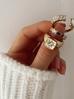 Pierścionek złoty ze stali szlachetnej PSA0097 Rozmiar 15