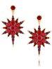 Kolczyki z czerwoną gwiazdą Red Stars KU0011