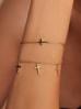 Bransoletka złota z krzyżykami ze stali szlachetnej BSA0054