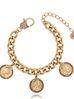 Bransoletka antyczne złoto z monetami BRG0175